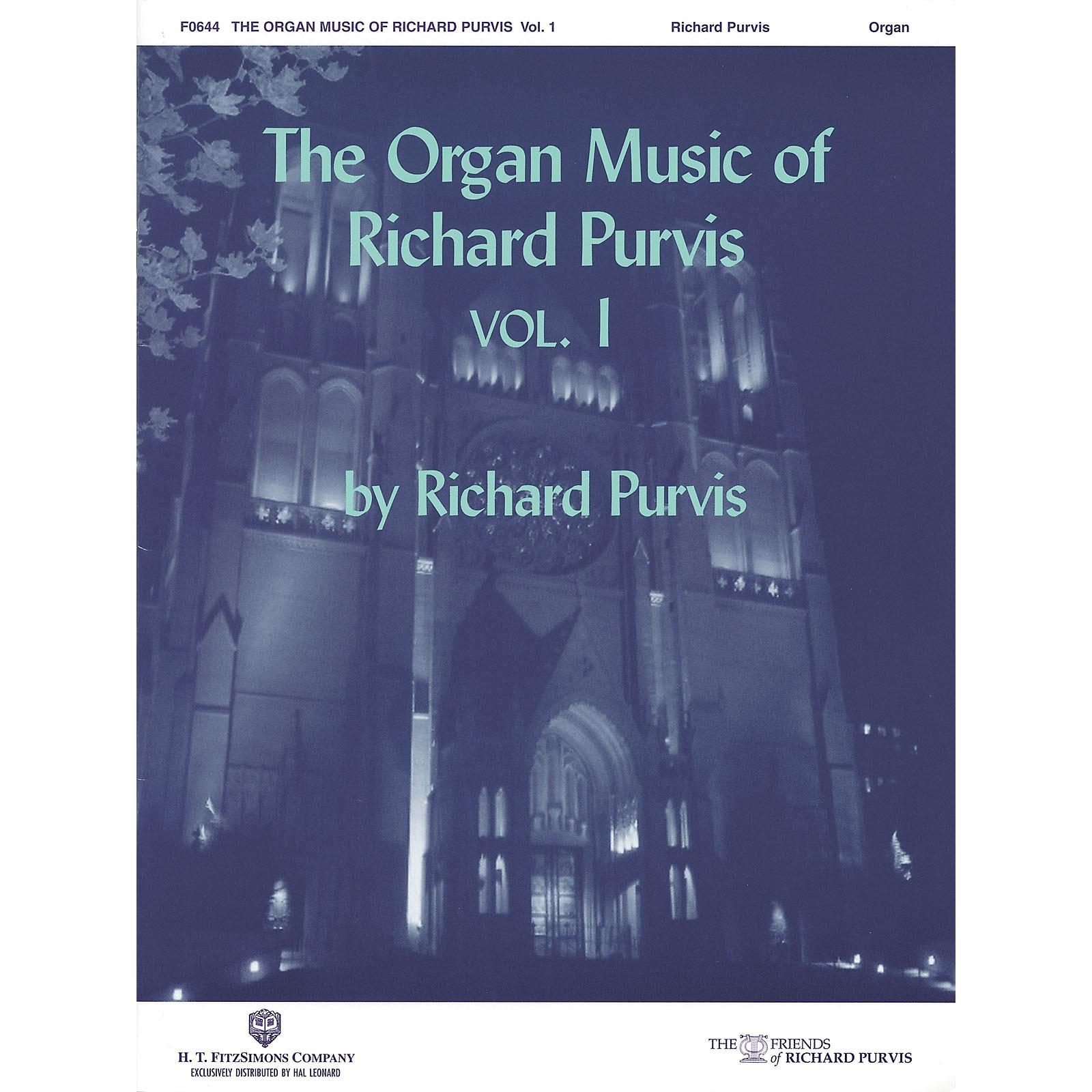 H.T. FitzSimons Company The Organ Music of Richard Purvis - Volume 1 H.T. Fitzsimons Co Series