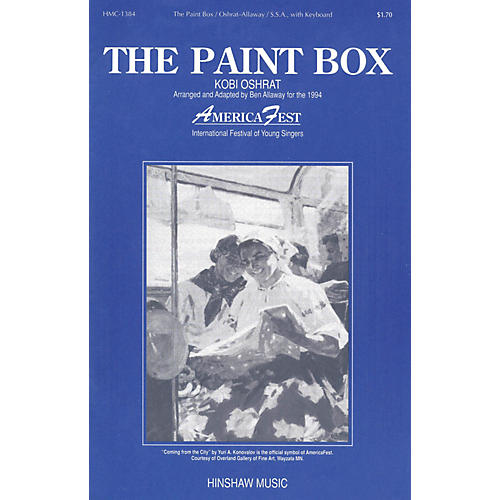 Hinshaw Music The Paint Box SSA arranged by Ben Allaway