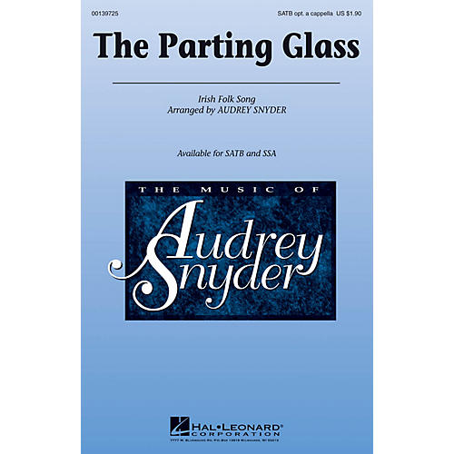 Hal Leonard The Parting Glass SSA Optional a cappella Arranged by Audrey Snyder