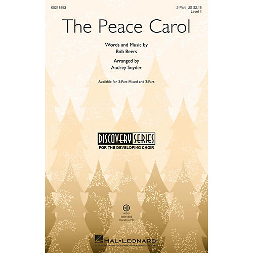 Hal Leonard The Peace Carol (Discovery Level 1) 2-Part arranged by Audrey Snyder