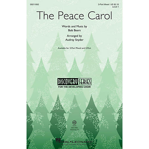 Hal Leonard The Peace Carol (Discovery Level 1) 3-Part Mixed arranged by Audrey Snyder