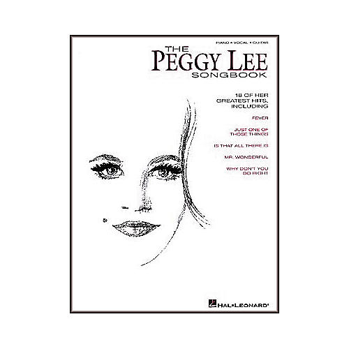 Hal Leonard The Peggy Lee Piano, Vocal, Guitar Songbook