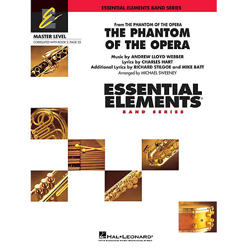 Hal Leonard The Phantom of the Opera (Main Theme) Concert Band Level 2 Arranged by Michael Sweeney