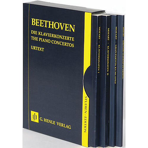 G. Henle Verlag The Piano Concertos No. 1-5 in a Slipcase (Study Score) Henle Study Scores Series Softcover