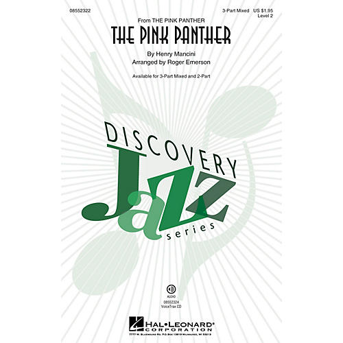 Hal Leonard The Pink Panther (Discovery Level 2) 3-Part Mixed arranged by Roger Emerson