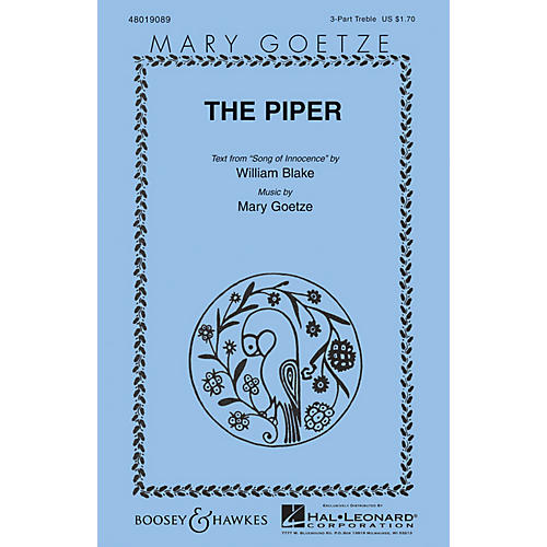 Boosey and Hawkes The Piper 3 Part Treble composed by Mary Goetze