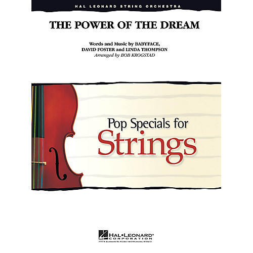 Hal Leonard The Power of the Dream Pop Specials for Strings Series Arranged by Bob Krogstad