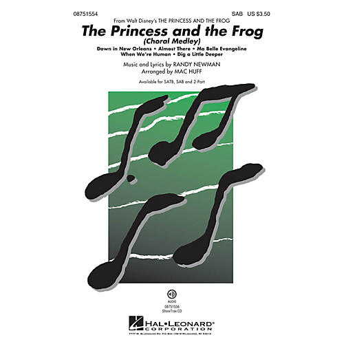 Hal Leonard The Princess and the Frog (Choral Medley) SAB arranged by Mac Huff