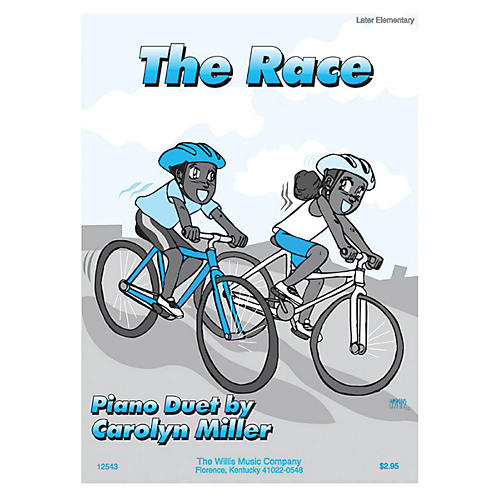 Willis Music The Race (1 Piano, 4 Hands/Early Inter Level) Willis Series by Carolyn Miller