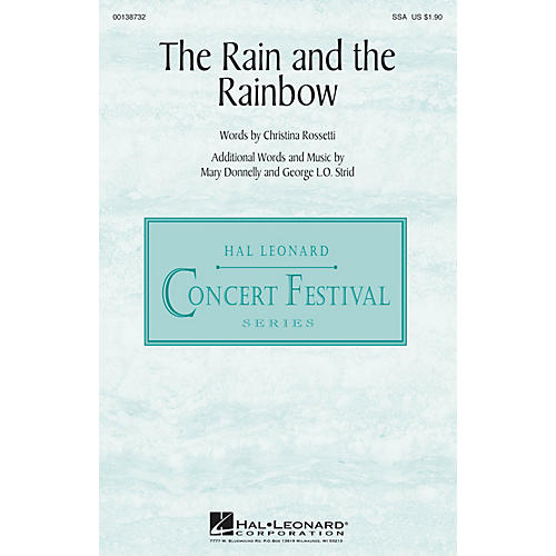 Hal Leonard The Rain and the Rainbow SSA composed by Mary Donnelly