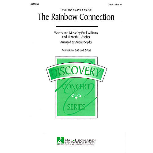 Hal Leonard The Rainbow Connection (from The Muppet Movie) 2-Part arranged by Audrey Snyder