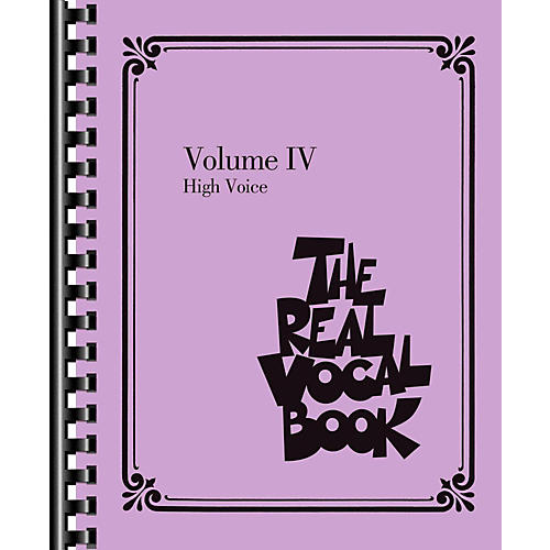 Hal Leonard The Real Vocal Book Volume 4 (IV) - High Voice Fake Book