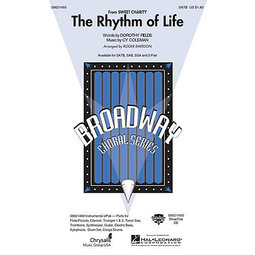 Hal Leonard The Rhythm of Life (from Sweet Charity) SATB arranged by Roger Emerson