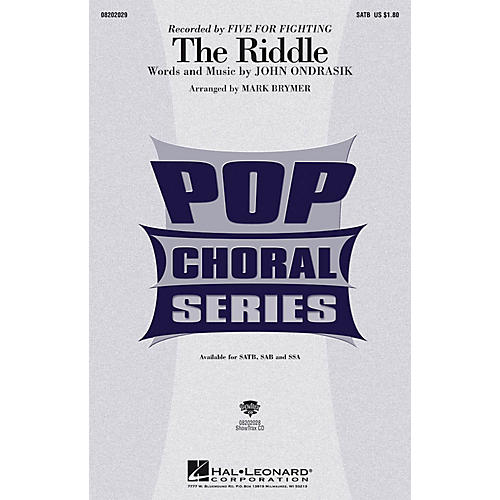 Hal Leonard The Riddle SSA by Five For Fighting Arranged by Mark Brymer