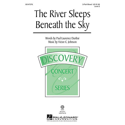 Hal Leonard The River Sleeps Beneath the Sky 3-Part Mixed composed by Victor C. Johnson