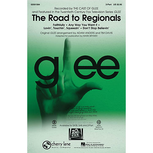 Cherry Lane The Road to Regionals (Choral Medley) (featured on Glee) 2-Part by Glee Cast arranged by Adam Anders