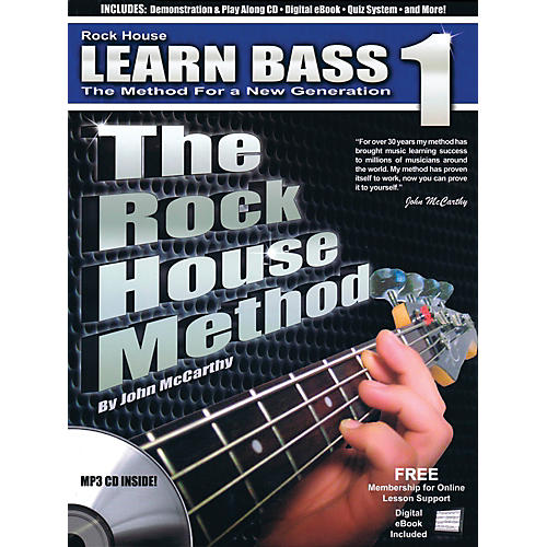 Rock House The Rock House Method - Learn Bass Guitar Book 1 (Book/CD)