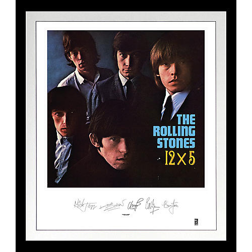 Alliance The Rolling Stones - Rolling Stones: 12x5 Lithograph & Clear Vinyl (Framed)