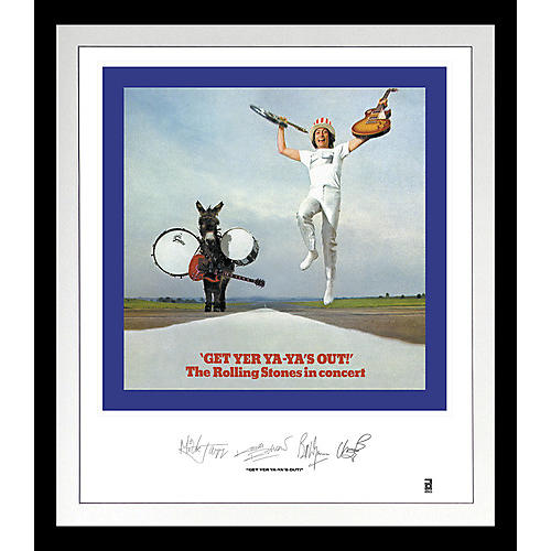 Alliance The Rolling Stones - Rolling Stones: Get Yer Ya-Ya's Out Lithograph & Clear Vinyl (Framed)