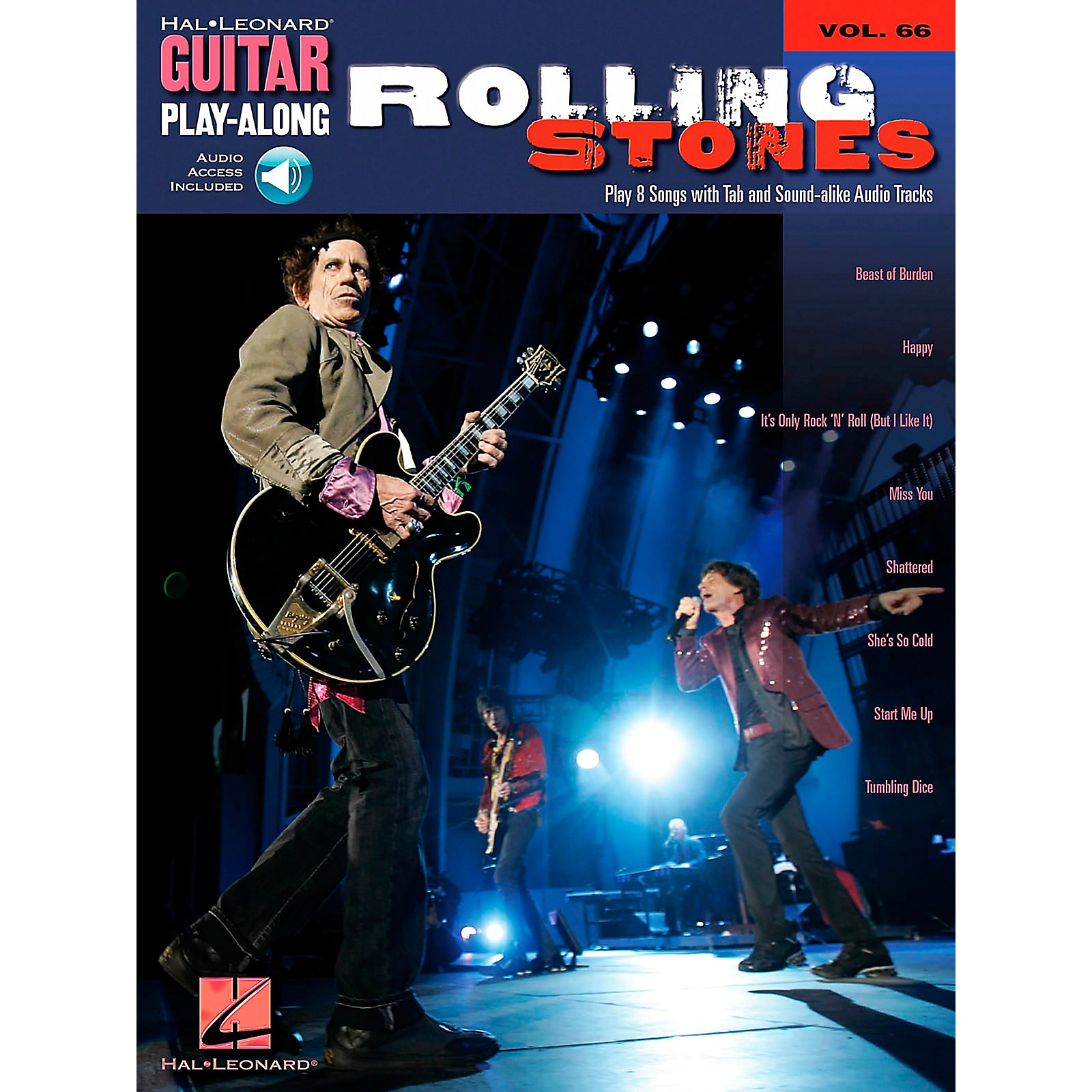 Hal Leonard The Rolling Stones Guitar Play-Along Series Book & CD