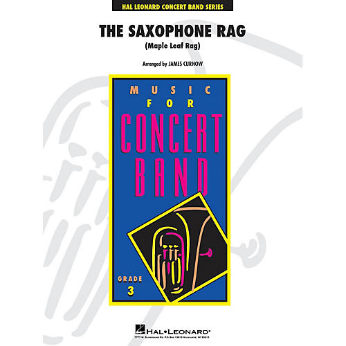 Hal Leonard The Saxophone Rag - Young Concert Band Level 3 by James Curnow