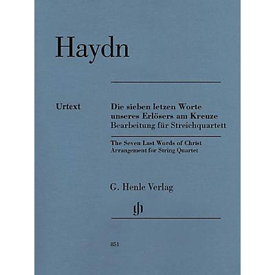 G. Henle Verlag The Seven Last Words of Christ Henle Music Folios Series Composed by Joseph Haydn