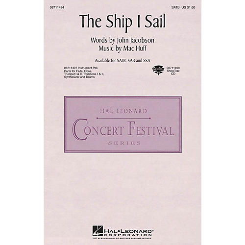 Hal Leonard The Ship I Sail Instrumental Pak - Special Arranged by Mac Huff