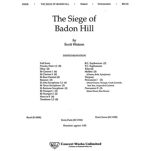 Hal Leonard The Siege of Badon Hill Concert Band Level 3 Composed by Scott Watson