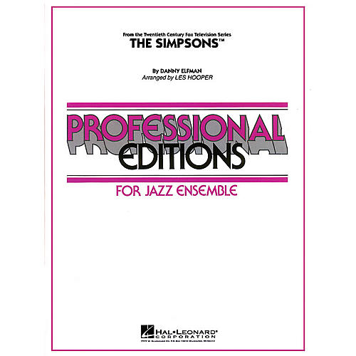 Hal Leonard The Simpsons Jazz Band Level 5 Arranged by Les Hooper
