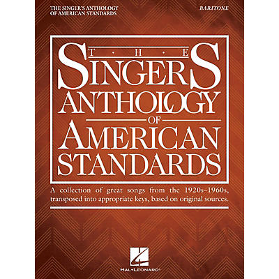 Hal Leonard The Singer's Anthology of American Standards Baritone Edition Vocal Songbook