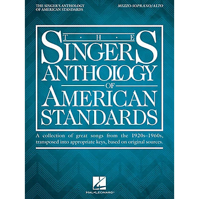 Hal Leonard The Singer's Anthology of American Standards Mezzo-Soprano/Alto Edition Vocal Songbook