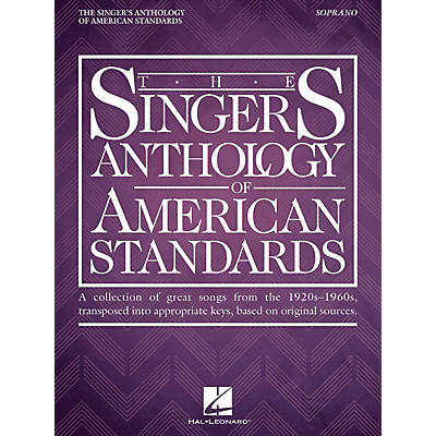 Hal Leonard The Singer's Anthology of American Standards Soprano Edition Vocal Songbook