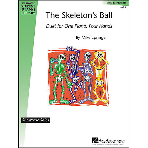 Hal Leonard The Skeleton's Ball Early Intermediate Level 4 Showcase Solos Hal Leonard Student Piano Library