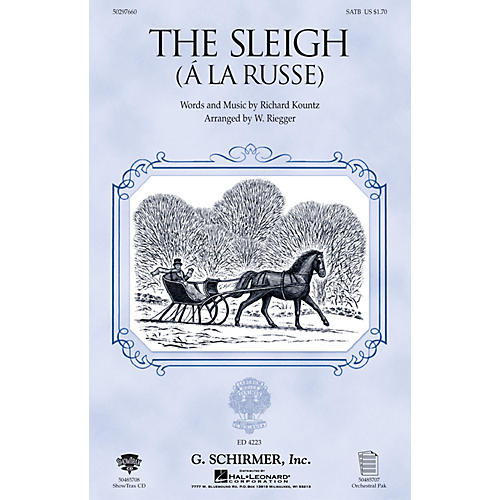 G. Schirmer The Sleigh (À La Russe) (TTBB) TTBB Composed by Richard Kountz