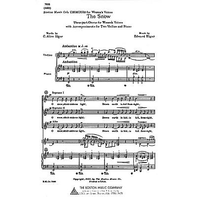 Boston Music The Snow SSA Composed by C. Alice Elgar