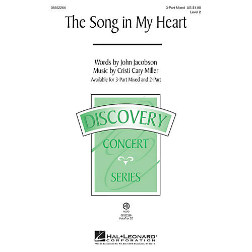 Hal Leonard The Song in My Heart (Discovery Level 2) 2-Part Composed by Cristi Cary Miller