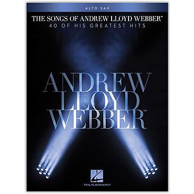 Hal Leonard The Songs of Andrew Lloyd Webber for Alto Sax Instrumental Songbook
