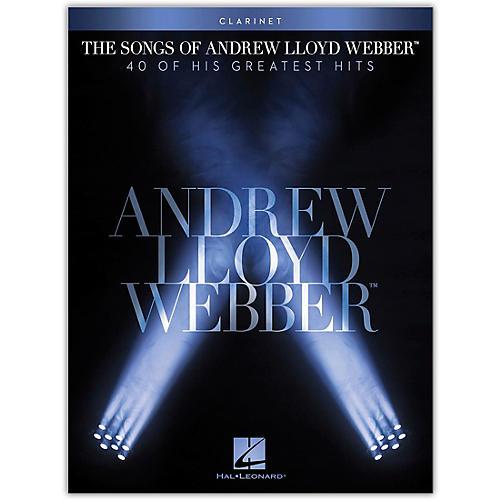 Hal Leonard The Songs of Andrew Lloyd Webber for Clarinet Instrumental Songbook