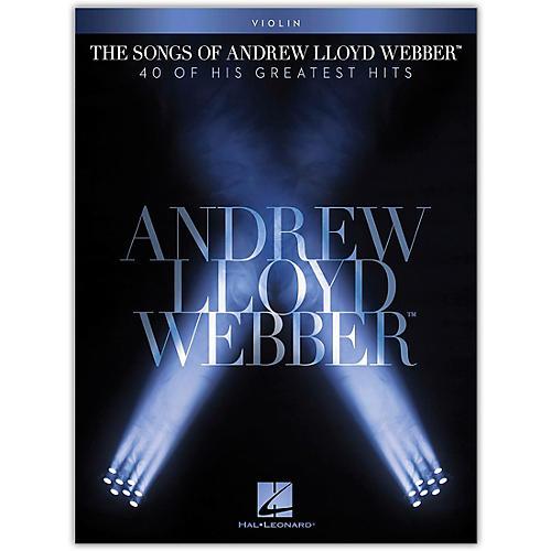 Hal Leonard The Songs of Andrew Lloyd Webber for Violin Instrumental Songbook