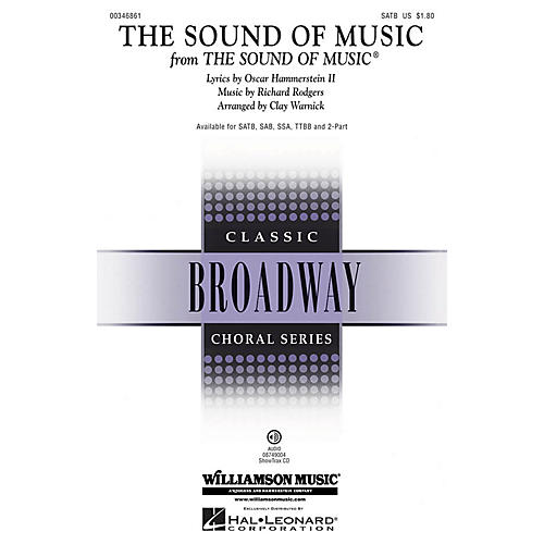 Hal Leonard The Sound of Music TTBB Arranged by Clay Warnick