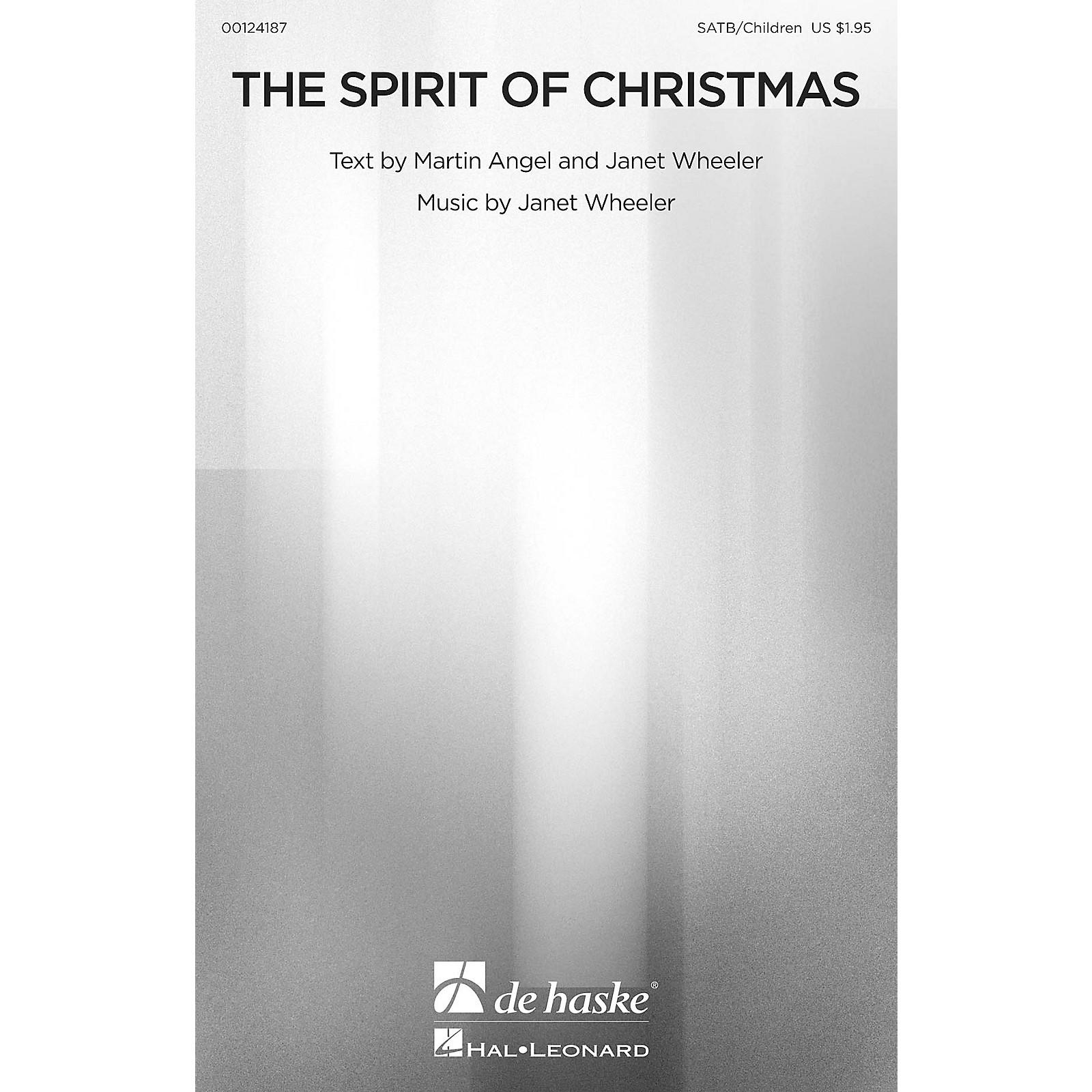 De Haske Music The Spirit of Christmas SATB/CHILDREN'S CHOIR composed by Janet Wheeler