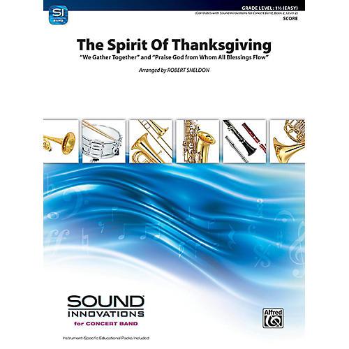 Alfred The Spirit of Thanksgiving Concert Band Grade 1.5 Set