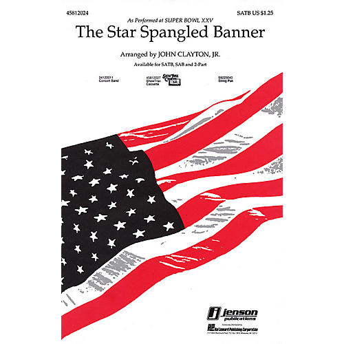 Hal Leonard The Star Spangled Banner 2-Part Arranged by John Clayton, Jr.