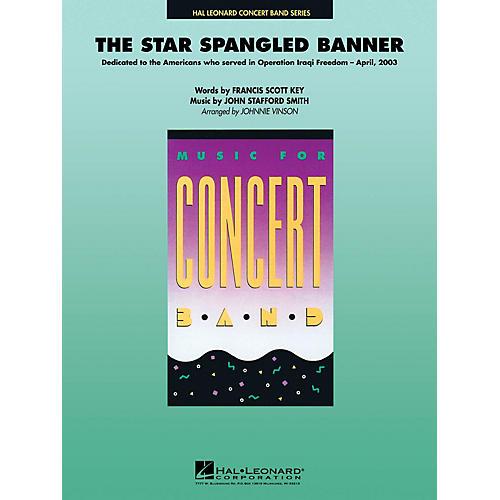 Hal Leonard The Star Spangled Banner Concert Band Level 4 Arranged by Johnnie Vinson