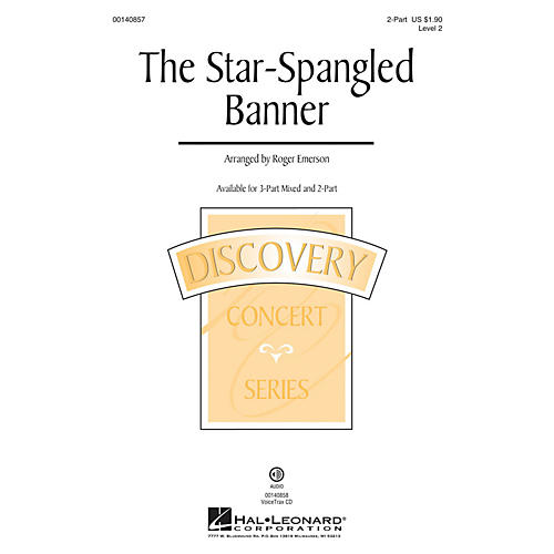 Hal Leonard The Star Spangled Banner (Discovery Level 2) 2-Part arranged by Roger Emerson