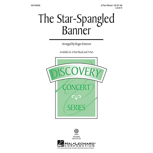Hal Leonard The Star-Spangled Banner (Discovery Level 2) 3-Part Mixed arranged by Roger Emerson