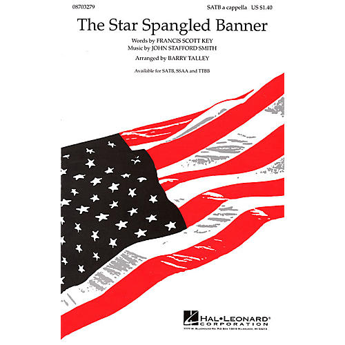 Hal Leonard The Star Spangled Banner TTBB A Cappella Arranged by Barry Talley