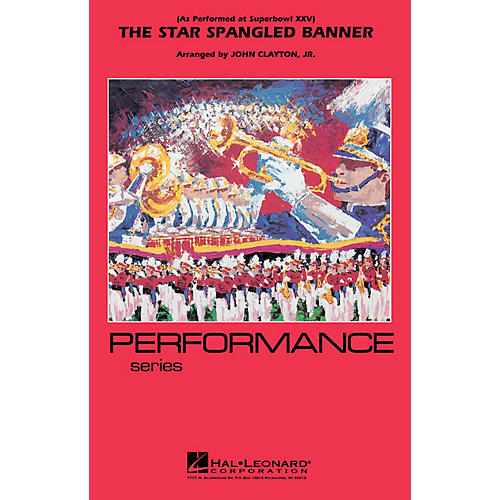 Hal Leonard The Star Spangled Banner (Whitney Houston version) Marching Band Level 3 Arranged by John Clayton