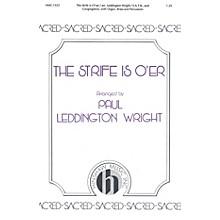 Hinshaw Music The Strife Is O'er SATB arranged by Paul Leddington Wright