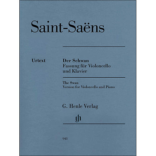 G. Henle Verlag The Swan From The Carnival Of The Animals for Violoncello And Piano
